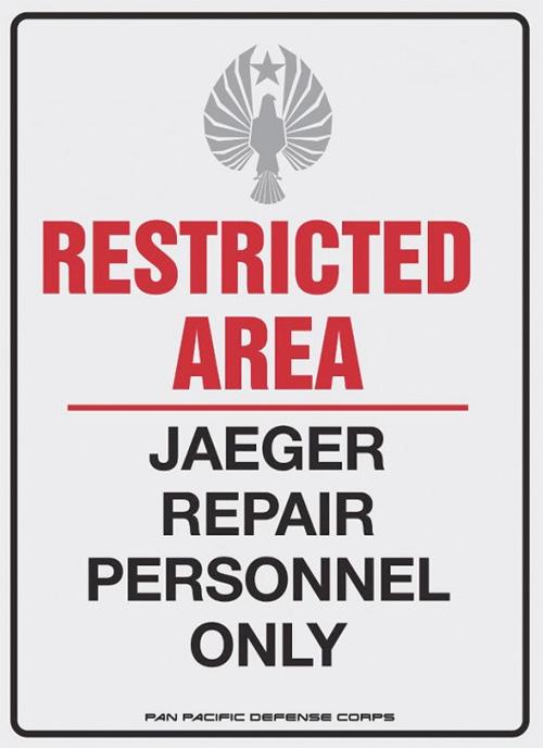 Aquí detrás se guardan Jaegers
