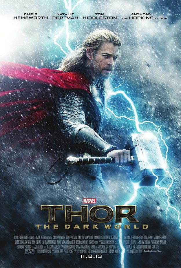 Cartel de Thor: el mundo oscuro