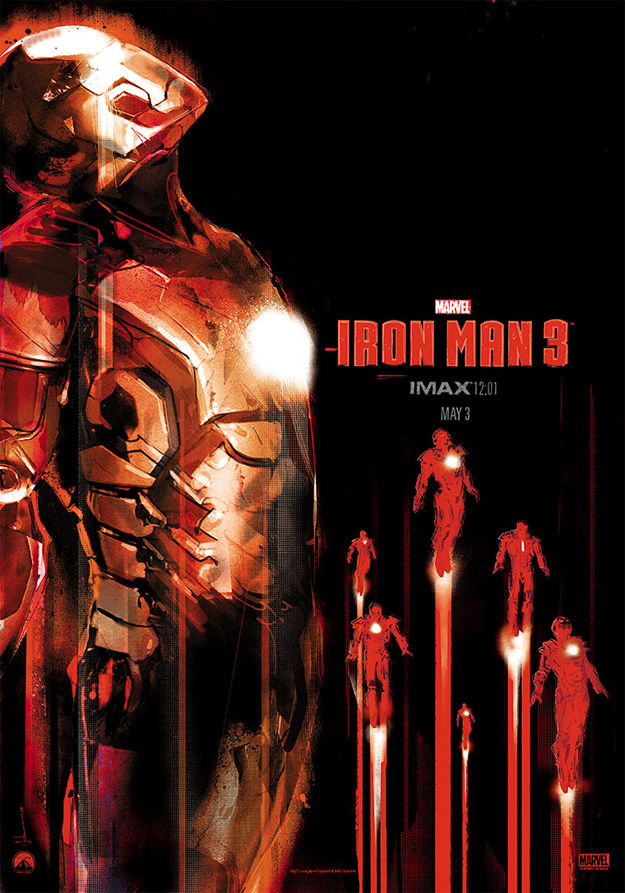 El cartel definitivo de Iron Man 3 obra de Jock