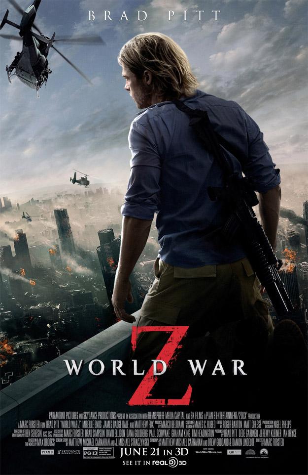 Un nuevo cartel de Guerra Mundial Z demuestra lo que es una completa falta de originalidad