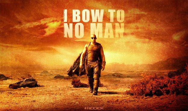 """Un mini banner de Riddick deja las cosas claras... """"no me inclino ante nadie"""""""