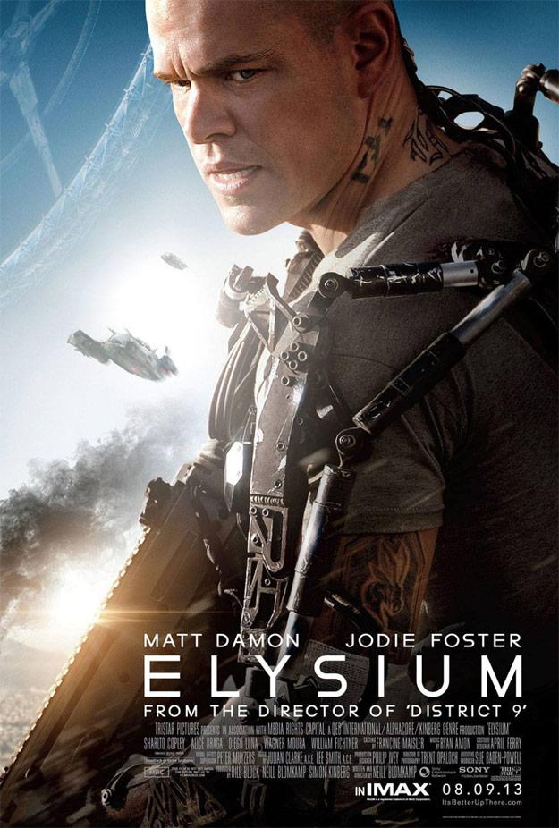 El nuevo cartel de Elysium... quiero verla ya