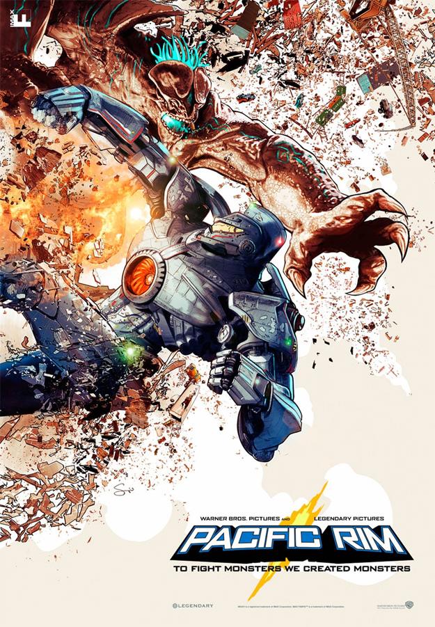 Cartel IMAX de Pacific Rim por Sergio Grisanti