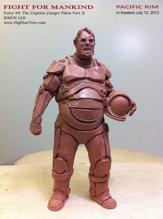 Diseño de Guillermo del Toro como un piloto de Jaeger por Simon Lee, escultor de Pacific Rim
