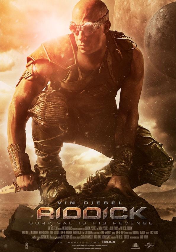 Uno de los carteles de Riddick, de los que molan
