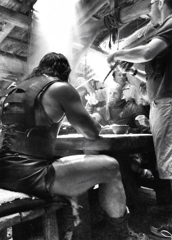 "Dwayne ""The Rock"" Johnson en una imagen del rodaje de Hercules: The Thracian Wars"