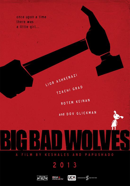 Uno de los carteles, bastante chulo, de Big Bad Wolves