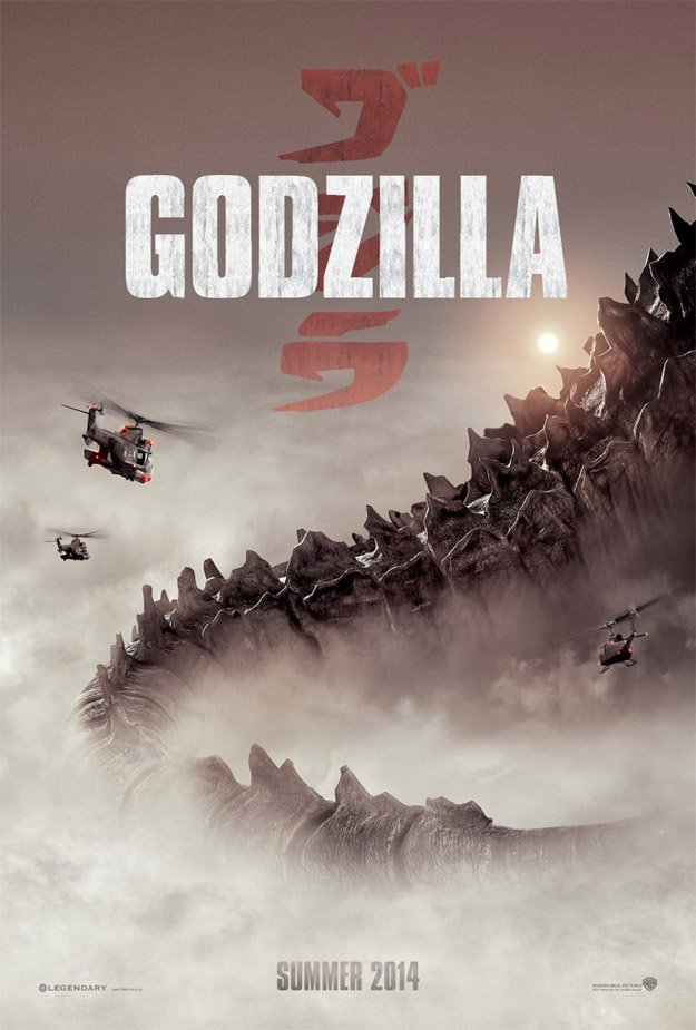 Un cartel de estudio de Godzilla