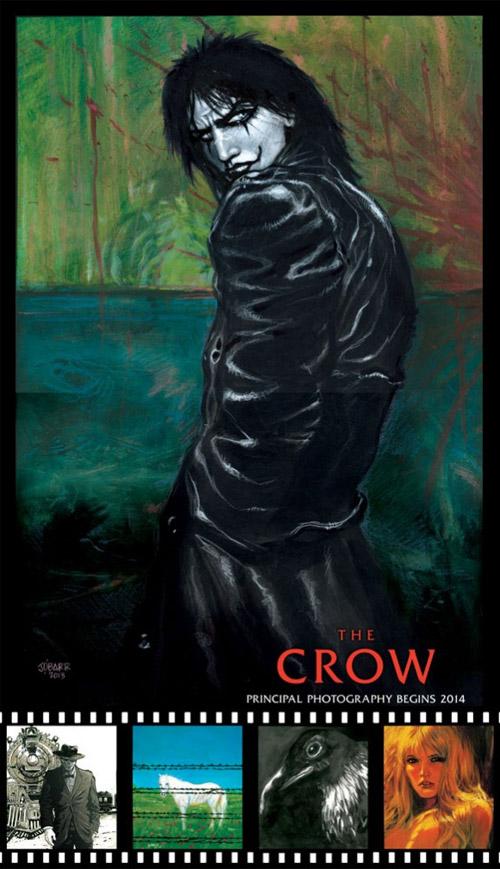 Primer promo cartel de The Crow
