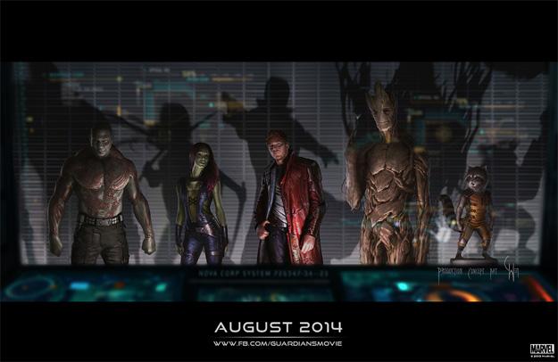 Concept art del aspecto final de Guardians of the Galaxy... impresionante