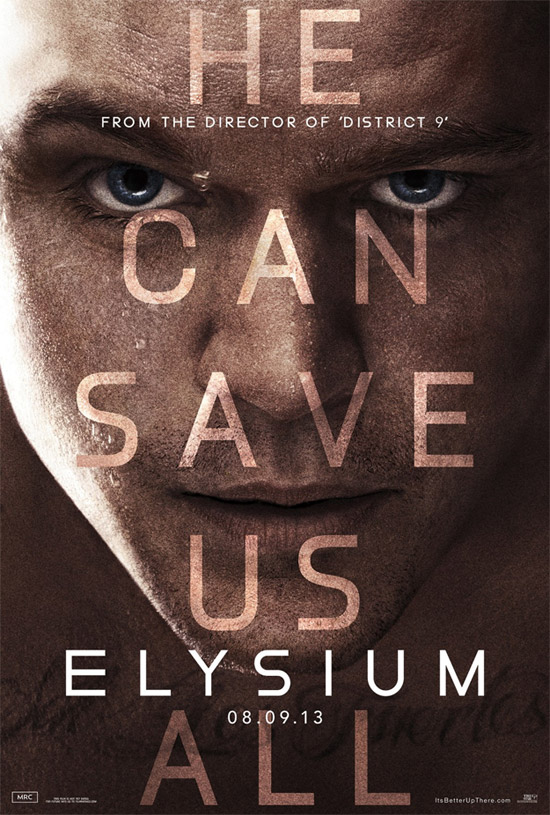 El nuevo cartel de Elysium obra de Mark Zuckerberg... ¿lo pilláis?