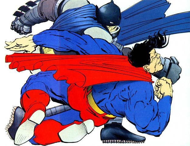 ¿Zurrando a Superman? Pues si, y encima es Batman