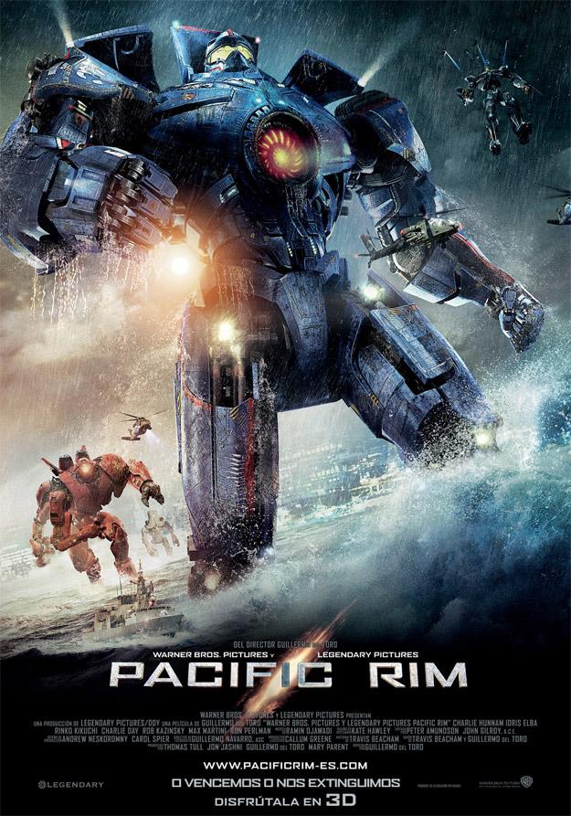 Cartel español de Pacific Rim de Guillermo del Toro
