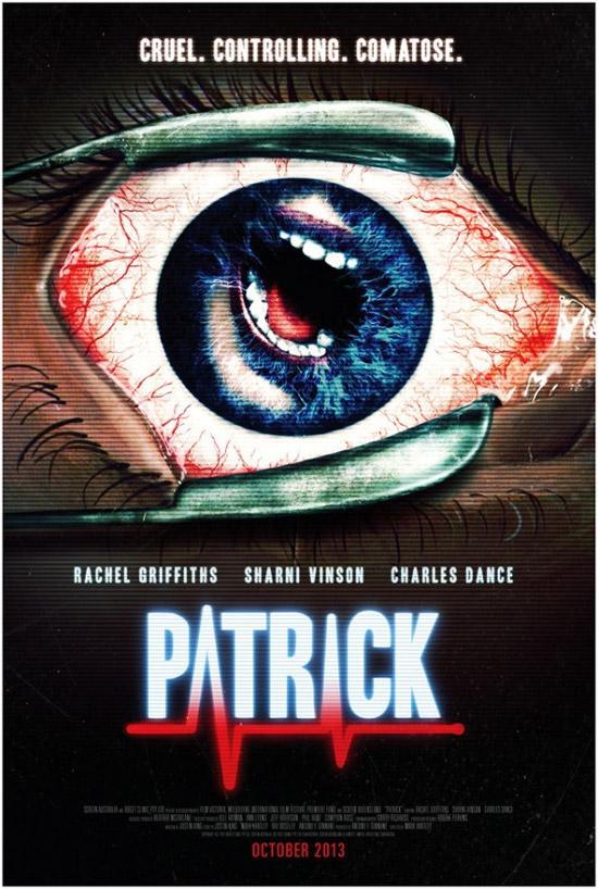 Un cartel de Patrick, remake de un film australiano de los 70's