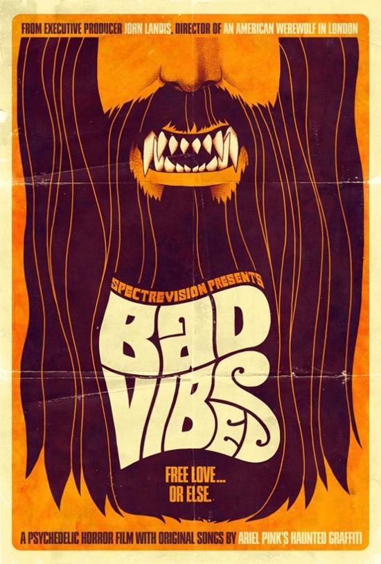 Primer cartel de Bad Vibes de John Landis y Elijah Wood