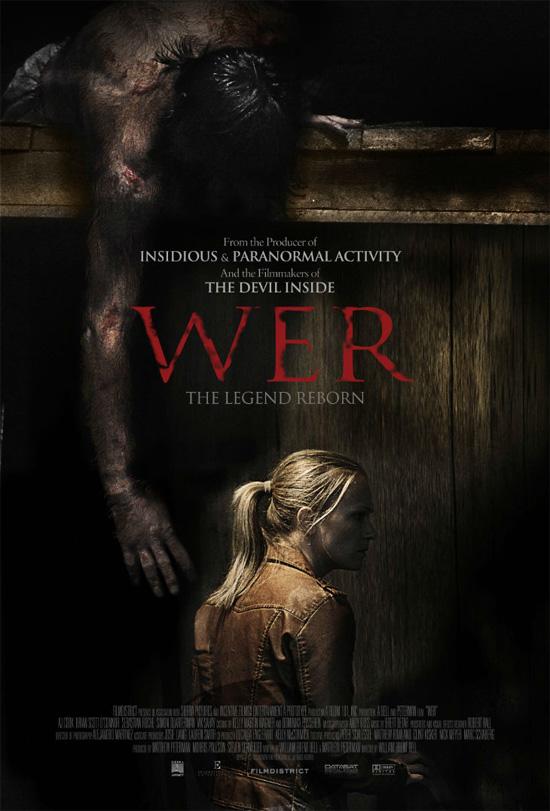 Curioso cartel de este film de hombres lobo llamado WER