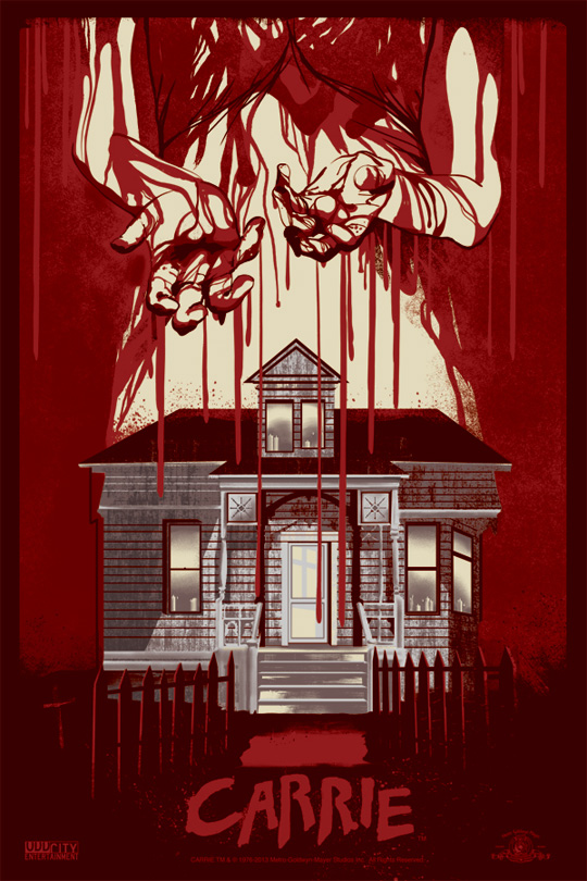 Rojo sangre... el color ideal para un nuevo cartel de Carrie