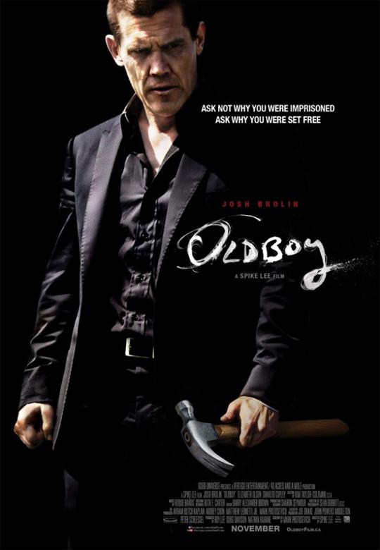 El nuevo cartel de Oldboy... ese martillo duele