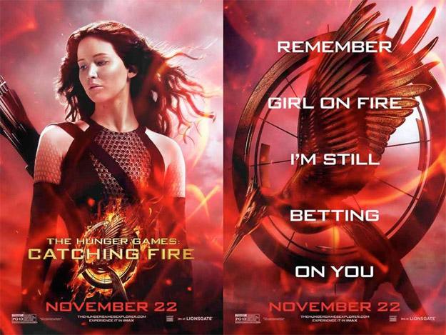 Nuevo cartel doble de Los Juegos del Hambre: en llamas