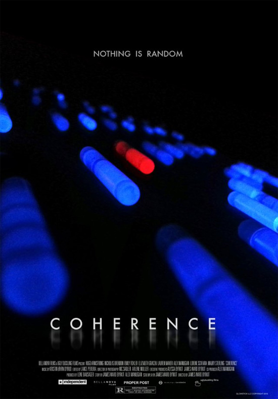 Primer cartel de Coherence de James Ward Byrkit