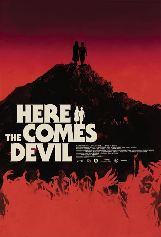 Precioso cartel de Here Comes the Devil