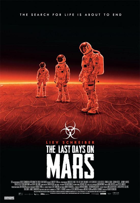 Un nuevo cartel del film de ciencia ficción The Last Days on Mars