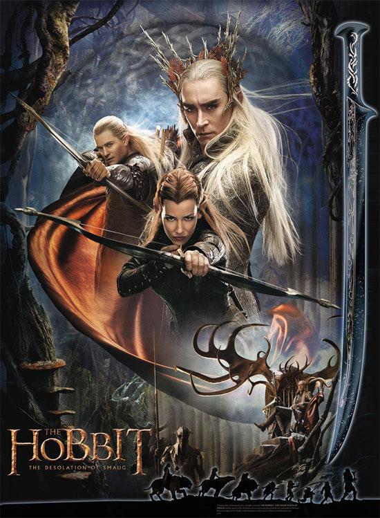 Cartel promo para merchandising de El Hobbit: La Desolación de Smaug