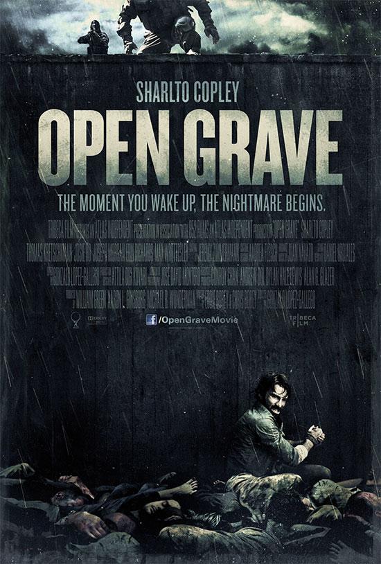 Uno de los carteles de Open Grave, así comienza todo