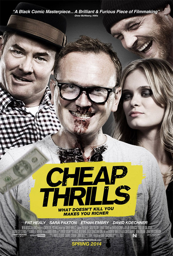 Un cartel de Cheap Thrills