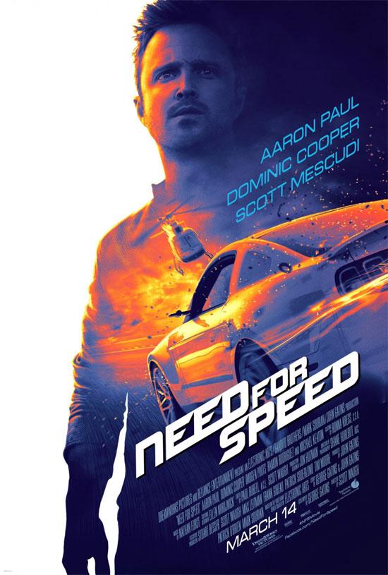 El primer cartel, muy chulo, de Need for Speed