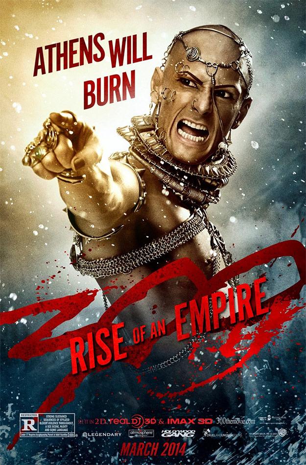 Xerxes promete prender fuego a Atenas
