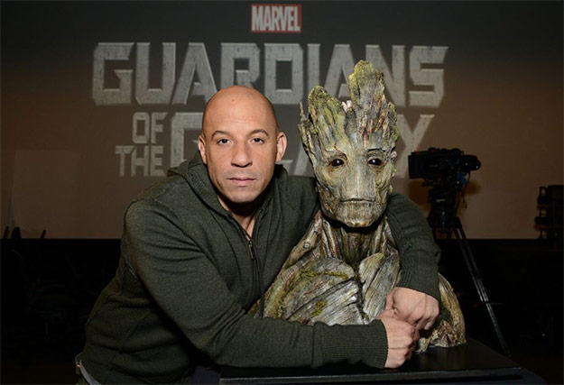 Vin Diesel es Groot en Guardians of the Galaxy
