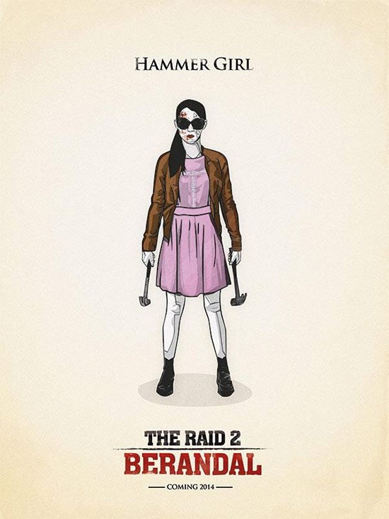 Cartel fan made de The Raid 2: Berandal recomendado por Gareth Evans