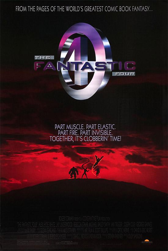 Cartel previsto para el estreno en cines de The Fantastic Four
