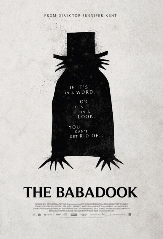 Simple e interesante este cartel de The Babadook