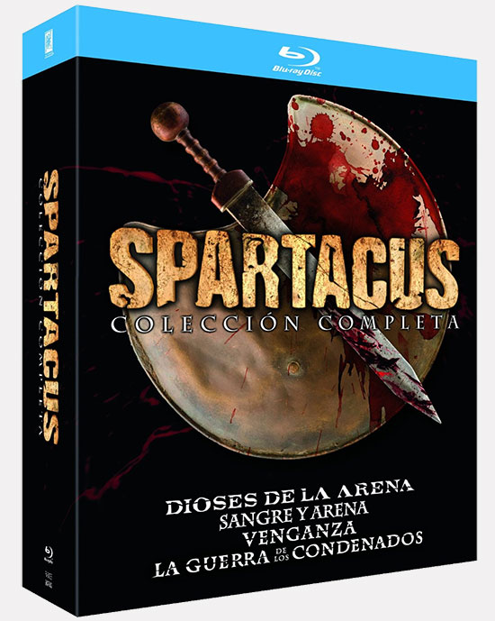 """Carátula de la colección completa de """"Spartacus"""""""