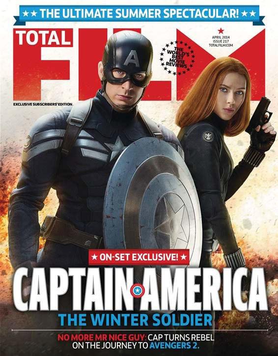 Portada del último número de Total Film dedicada a Capitán América: el Soldado de Invierno
