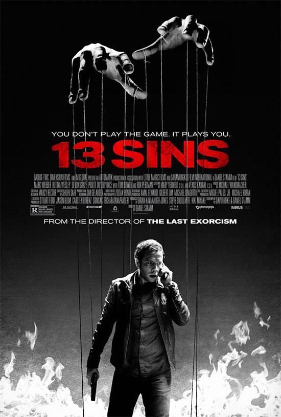 El primer cartel de 13 Sins de Daniel Stamn