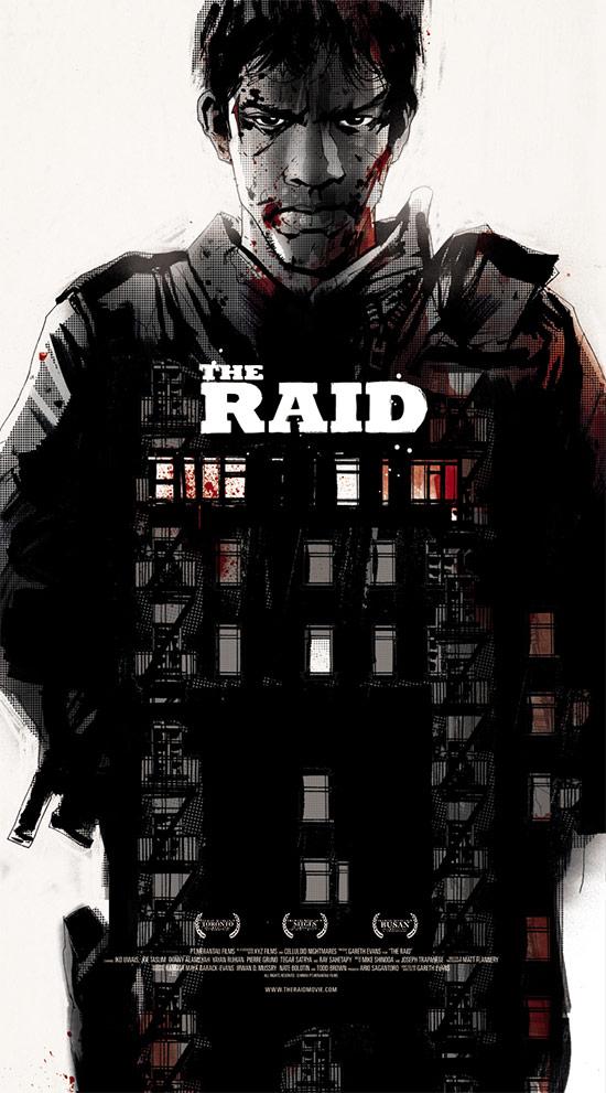 Una propuesta de Jock para un cartel mondo de The Raid