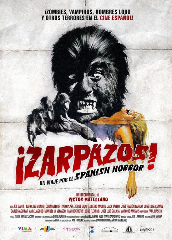 Cartel del documental ¡Zarpazos! Un viaje por el spanish horror