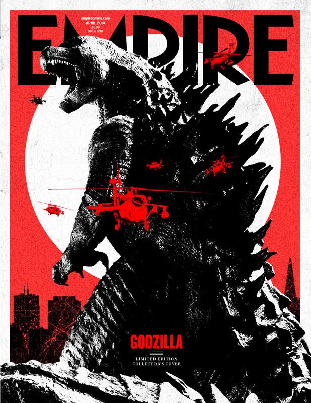 La fantástica portada de Empire para Godzilla