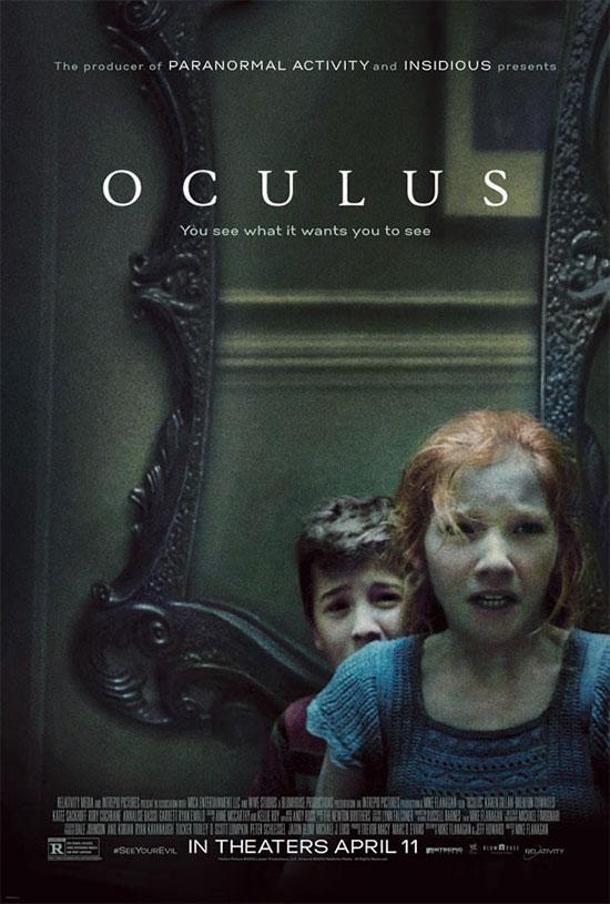 Tres de los protagonistas de Oculus... y no es broma