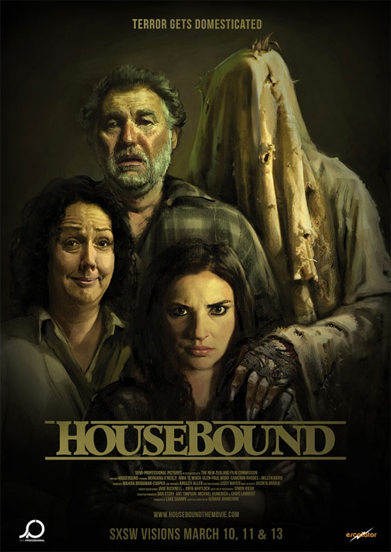 Genial cartel retrato de Housebound