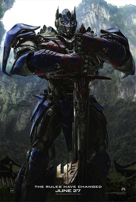 Saludemos a Optimus Prime en Transformers: la era de la extinción
