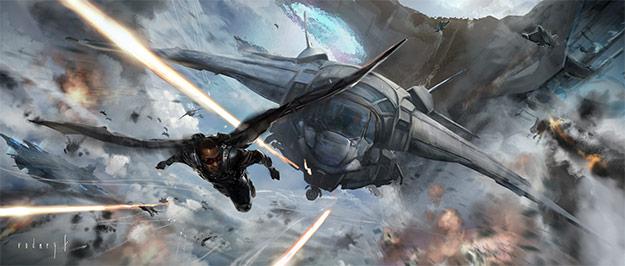 Concept art de Capitán América: el Soldado de Invierno