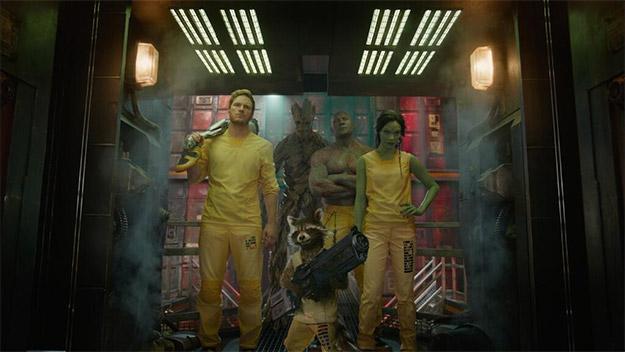 Star Lord, Rocket Racoon, Groot , Drax y Gamora