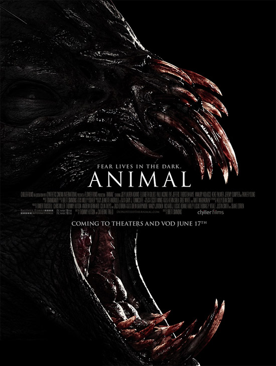 El cartel de Animal... que incordio de dientes