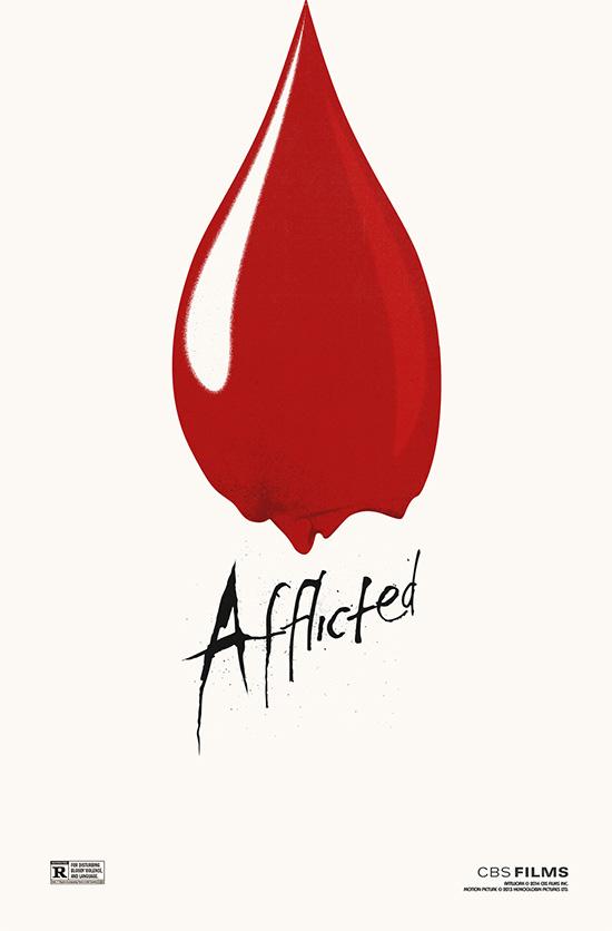 Curioso y bastante original este cartel de Afflicted, film que recomiendo
