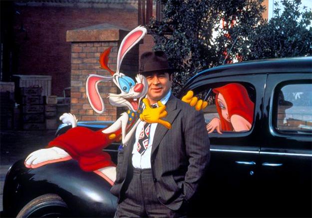 Roger Rabbit, Eddie Valiant y Jessica Rabbit... amigos todos ellos