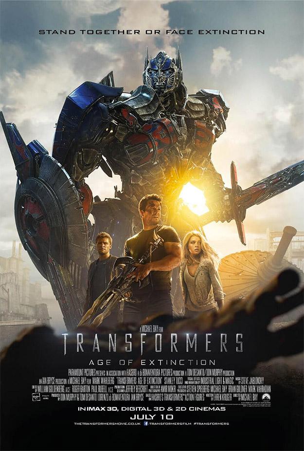 Uno de los últimos carteles de Transformers: la era de la extinción
